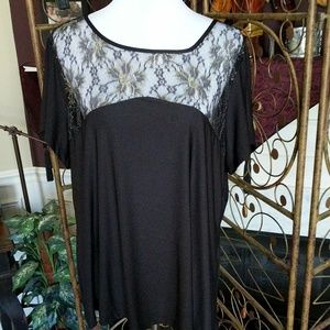 Gorgeous Lace Collar Pullover Top NWOT